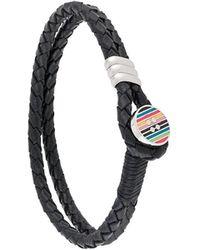 Paul Smith Colour-block Button Bracelet - Black