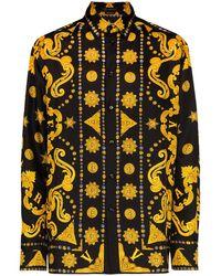 Versace Рубашка С Принтом Barocco Western - Черный