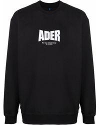 ADER error ロゴ プルオーバー - ブラック