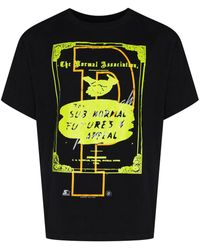 Liam Hodges Graphic-print Crew-neck T-shirt - Black