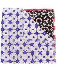 Haider Ackermann Long Printed Scarf - Blue