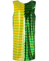 Halpern Sequin Mini Dress - Green