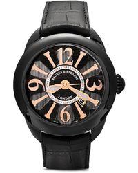 Backes & Strauss Наручные Часы Piccadilly Black Knight 45 Мм - Черный