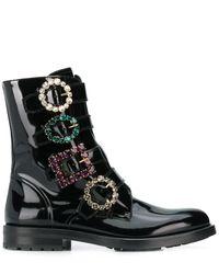 Dolce & Gabbana Ботинки С Декорированными Пряжками - Черный