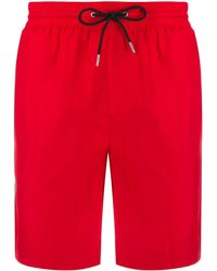 Burberry Short de bain Icon - Rouge