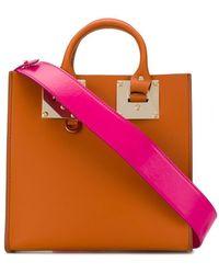 Sophie Hulme Bolso shopper Albion - Naranja
