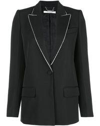 Givenchy メタルトリムカラー ジャケット - ブラック