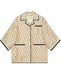 Gucci - インビテーション シルクシャツ - Lyst