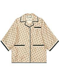 Gucci インビテーション シルクシャツ - マルチカラー