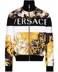 Versace - Куртка На Молнии С Логотипом - Lyst