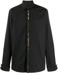 Roberto Cavalli Декорированная Рубашка - Черный