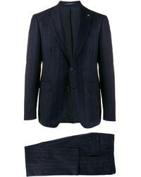 Tagliatore Pinstripe Two-piece Suit - Blauw
