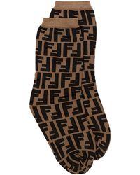 Fendi Носки С Логотипом Ff - Коричневый
