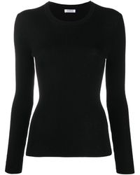 P.A.R.O.S.H. Crew Neck Knitted Top - Black