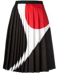 Neil Barrett - Geometric Print Pleated Skirt - Lyst