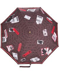 Moschino - Delivery Label Umbrella - Lyst