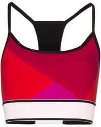 LNDR Beach Run Colour-block Sports Bra - Black
