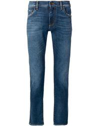 Dolce & Gabbana Pantalones con corte slim - Azul
