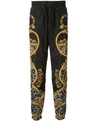 Versace Jeans バロックプリント トラックパンツ - ブラック