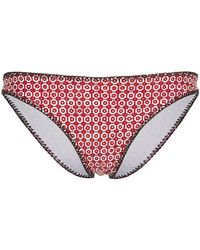The Upside | Printed Triangle Bikini Briefs | Lyst
