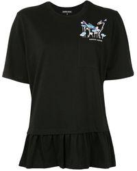 Markus Lupfer - スパンコールロゴ Tシャツ - Lyst