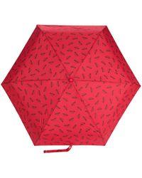 Moschino Logo Printed Umbrella - Red