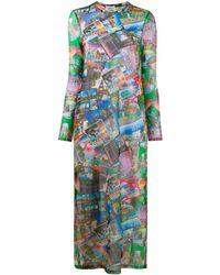 Balenciaga Платье С Принтом - Синий