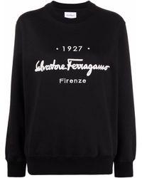 Ferragamo Sweat à logo Signature 1927 - Noir