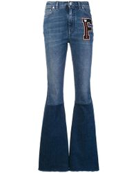 90f24b46e4f2a Dolce   Gabbana - Logo Patch Flared Jeans - Lyst