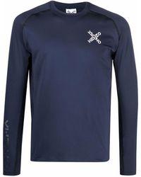 KENZO T-Shirt mit Sport-Logo - Blau