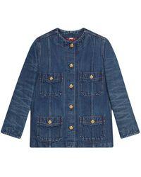 Gucci オーバーサイズ デニムジャケット - ブルー