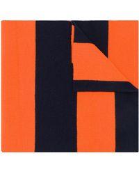 Pringle of Scotland ラグビーストライプ スカーフ - オレンジ