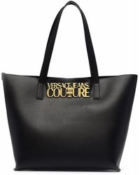 Versace Jeans Couture ロゴ ハンドバッグ - ブラック
