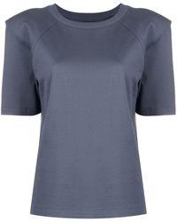 Styland Camiseta con hombreras - Gris