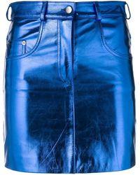Manokhi - Metallic Mini Skirt - Lyst