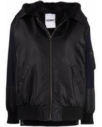 Yves Salomon Zip-up Hooded Coat - Blue