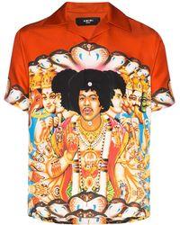 Amiri T-shirt Met Jimi Hendrix Print - Oranje