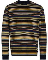 Beams Plus Camiseta a rayas - Amarillo