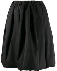 Comme des Garçons A-line Flared Midi Skirt - ブラック