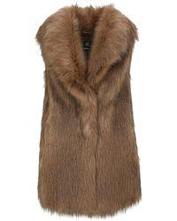 Unreal Fur エコファー ジレ - ブラウン