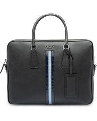 Prada Saffiano Leather Work Bag - Black
