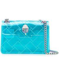 Kurt Geiger Mini Kensington Transparent Bag - Blue