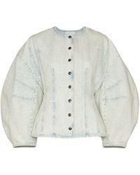 Givenchy Cocoon-sleeve Denim Jacket - Blue