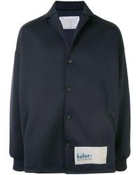 Kolor オーバーサイズ ジャケット - ブルー