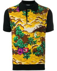 DSquared² - Hawaii Landscape Print Polo Shirt - Lyst