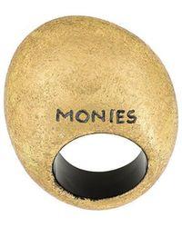 Monies Brand Embossed Ring - Metallic
