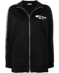 Miu Miu スパンコール スウェットシャツ - ブラック