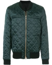 Balmain - Quilted Bomber Jacket - Lyst