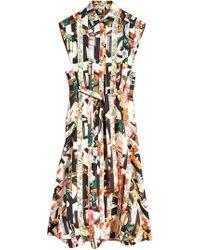 Burberry - Graffiti Archive Scarf Print Silk Shirt Dress - Lyst