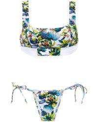 Amir Slama Printed Bikini Set - Wit